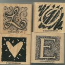 Stampin Up Rubber Stamp Set Letters of Love--Retired