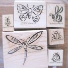 Stampin Up Bunch O Bugs Stamp Set--6 Pieces