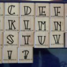 Stampin&#39; Up Bold-Line Alphabet Lower Rubber Stamp Set