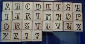 Stampin' Up Bold-Line Alphabet Lower Rubber Stamp Set