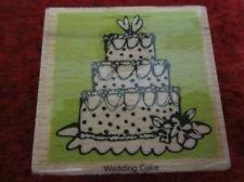 """Vap! Scrap Rubber Stamp """"Wedding Cake"""""""