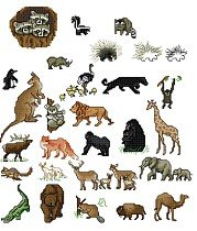 Set of 30 Animal Magnets
