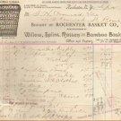 Vintage Letterhead - Willow, Splint, Rattan-Bamboo Baskets 1893 p-1192