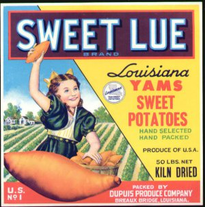 LOT of 10 all the Same Original Sweet Lue Crate Label Sweet Potatoes
