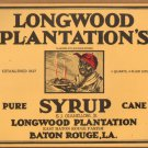 LOT of 10 all the Same Original Longwood Plantations Syrup Labels - Baton Rouge