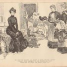 Vintage Art Print The Gibson Girl - She Longs For Seclusion Circa 1907 --G-31