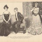 Vintage Art Print The Gibson Girl-Mrs. Diggs Circa 1907 --G-15
