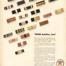 1940s Texaco Air and Oil Company- WW11 Battle Ribbon Print Ad -tva1492