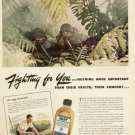 1943 Army Rifles- Jungle Fighting Health Skat Repelllent Vintage Print Ad-tva183