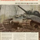 1942 Chrysler Corporation WW11 Gen. Sherman Tanks Vintage Print Ad-tva394