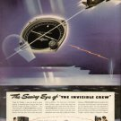 1942 Bendix Aviation Invisible Crew Radio Compass Vintage Print Ad-tva571