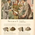 1940s Stetson Hats for Men-Women- Bike-Friends Advertising Print Ad - tva1494