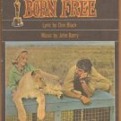 Vintage Sheet Music Born Free Movie -Columbia Music 1966