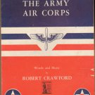 Vintage Sheet Music The Army Air Corps Song  1939
