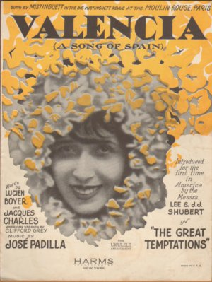 Vintage Sheet Music - Valencia -The Great Temptations 1925