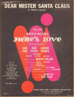 Vintage Sheet Music Dear Mister Santa Claus - New Musical Here's Love 1963