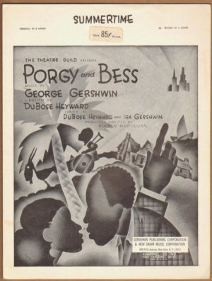 Vintage Sheet Music Summertime - Porgy and Bess By George Gershwin 1935