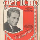 Vintage Sheet Music - Jericho - Syncopation 1929