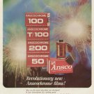 1960s Anscochrome Films 100, T100, 50 -  Advertising Print Ad - tva2289