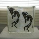 Hand Painted Koli Glass Block Night Light