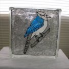 Hand Painted Blue Bird Glass Block Light