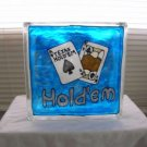 Hand Painted Texas Hold'em Glass Block Light