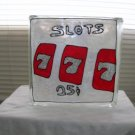 Hand Painted Slots Glass Block Light