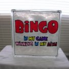 Hand Painted Bingo Glass Block Light
