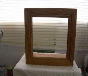 Solid Oak Frame For Glass Block Lights