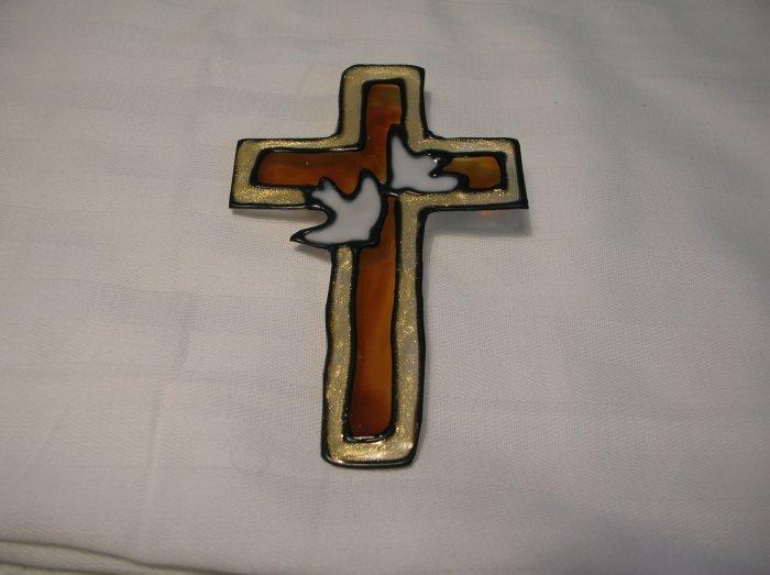 Cross with Doves Pop Bottle Suncatcher