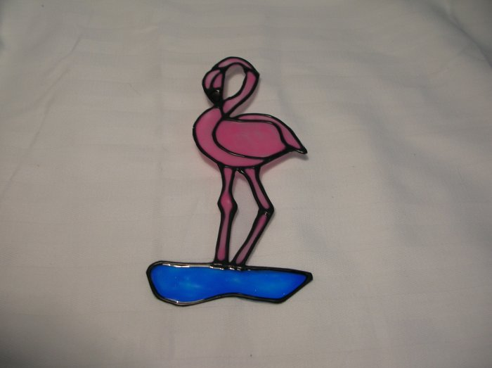 Flamingo Pop Bottle Suncatcher