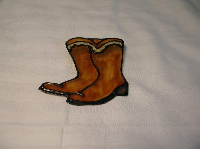 Cowboy Boots Pop Botle Suncatcher