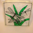 Hand Painted Dragonfly Family Glass Block Light