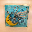 Hand Painted Stars And Moon Glass Block Light