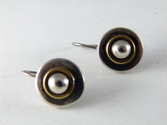 MEXICAN STERLING SILVER PIERCED EARRINGS