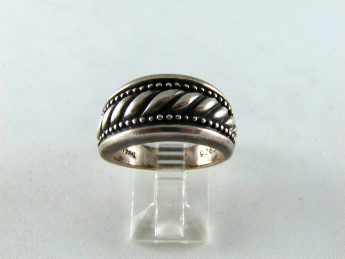 VINTAGE STERLING SILVER ENGAGEMENT STYLE RING SIZE 7 1/2