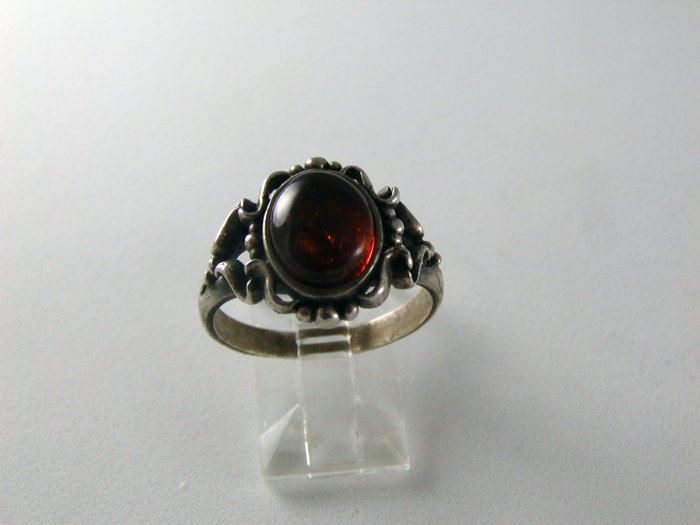 VINTAGE DRAGONS BREATH STERLING SILVER RING SIGNED LF SZ 9