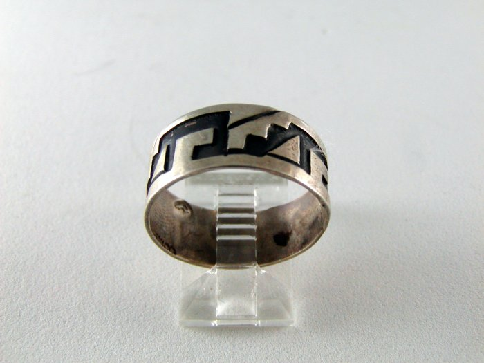 VINTAGE MEXICAN MEXICO STERLING SILVER BAND RING SIZE 9 3/4
