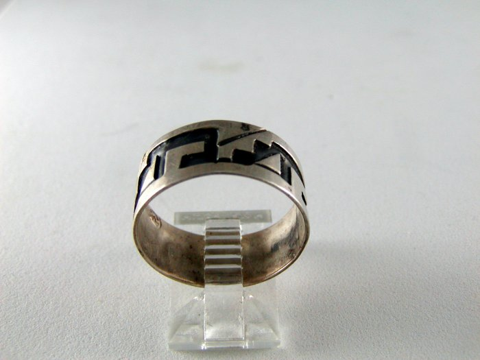 VINTAGE TAXCO MEXICO MEXICAN STERLING SILVER RING SZ 9 3/4 SIGNED CD