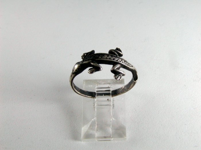 VINTAGE STERLING SILVER LIZARD GILA MONSTER RING SIZE 7 3/4