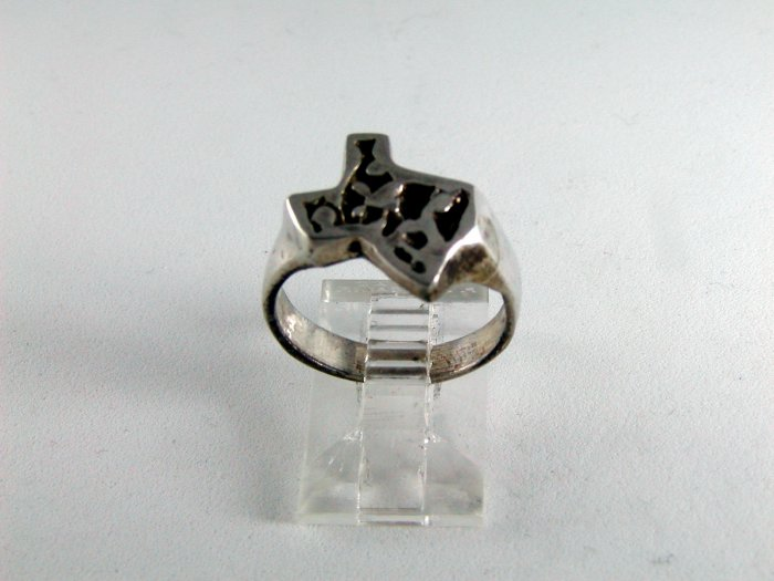 VINTAGE STATE OF TEXAS STERLING SILVER RING SIZE 6 1/4