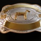 2007 Silver & Gold 2 Tone Livestock Show Goat Belt Buckle by Justin