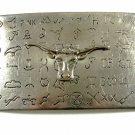 "1881 Cattle Brands Belt Buckle 5"" X 3"" 7214"