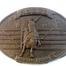 Vintage Bronze Rodeo America's # 1 Sport Belt Buckle