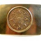 Vintage Silver Tone Mexican Aztec Calender Belt Buckle