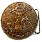 Vintage Drink Coca Cola Lady in Hat Belt Buckle