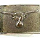 Vintage 1980's Longhorn Steer Head Belt Buckle Not Marked 092314