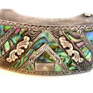 Vintage Mexican Sterling Silver & Abalone Belt Buckle