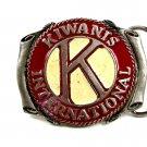 Vintage 1970's Enameled Kiwanis International Belt Buckle 10282013