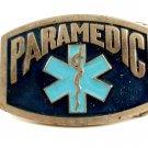 Vintage 1970's Enameled Paramedic Belt Buckle 10282013
